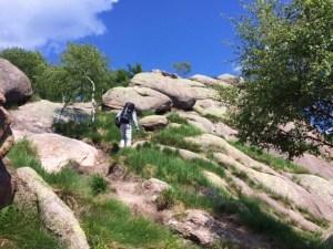 Italy rock climbing Mottarone